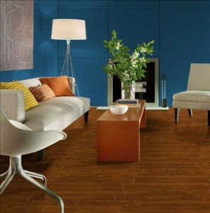 Vinyl comes in a variety of styles, including wood patterns and tile patterns.