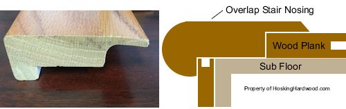 Stair Nose Molding Vs Cap A Tread Installing Stair Nose