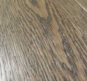 Texture Brushed A Hardwood Floor Which Is Wirebrushed
